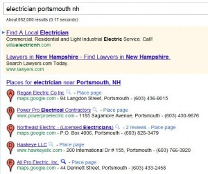 Sample Google Places Results