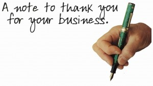 Follow-up marketing with a Thank You note